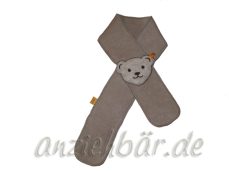 steiff schal beige mit teddykopf einsteckschal fleece gr i ca 90cm fleeceschal ebay. Black Bedroom Furniture Sets. Home Design Ideas